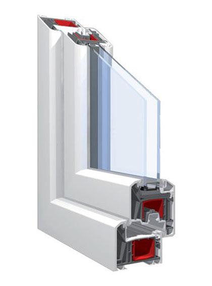 5 kamrás műanyag ablak kétrétegű üvegezéssel