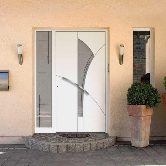 5 kamrás műanyag bejárati ajtó
