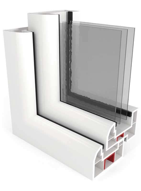 3 rétegű műanyag ablakok
