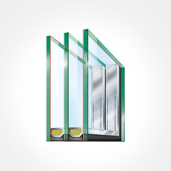 5 kamrás műanyag ablak – 3 rétegű üveggel